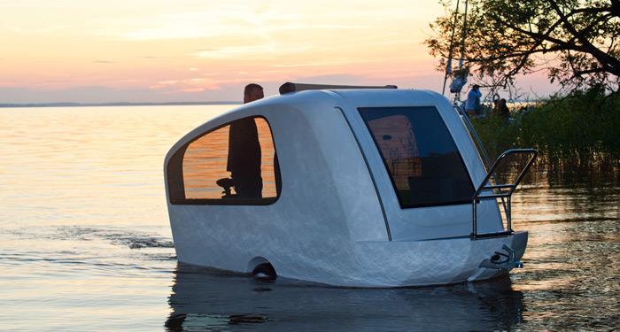 Sealander boat caravan hybrid design news Sealander caravan